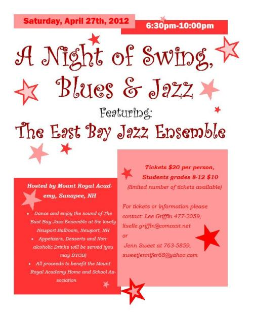 Save the date! Annual Swing Dance is on April 27th