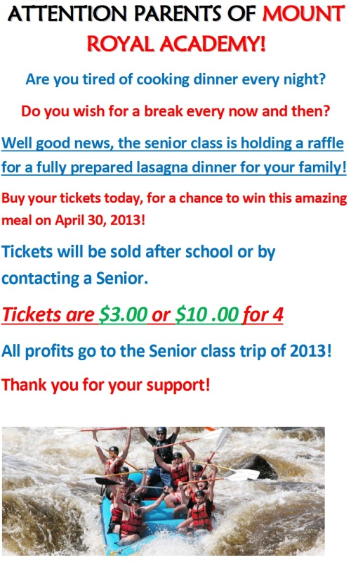 Please Consider Supporting the Senior Class