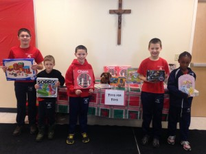 toys for tots with kids